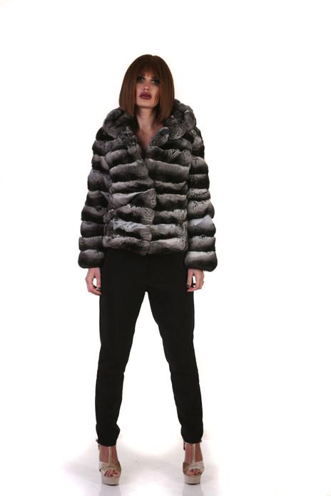 Chinchilla Coat Hooded
