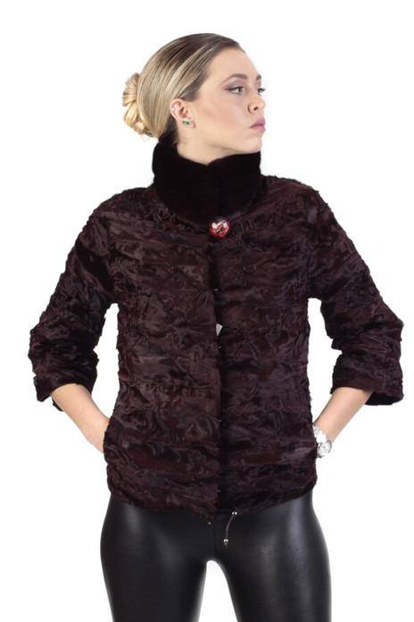 Brown Swakara Lamb Jacket & Mink Collar