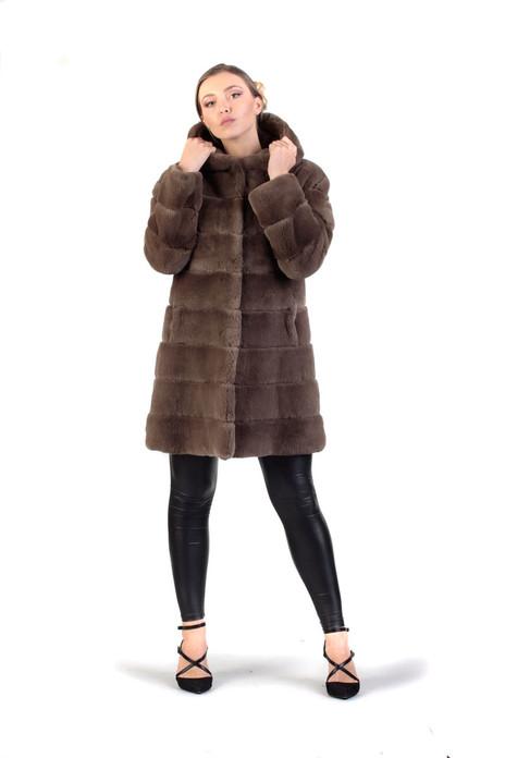 Brown Rex Fur Stroller