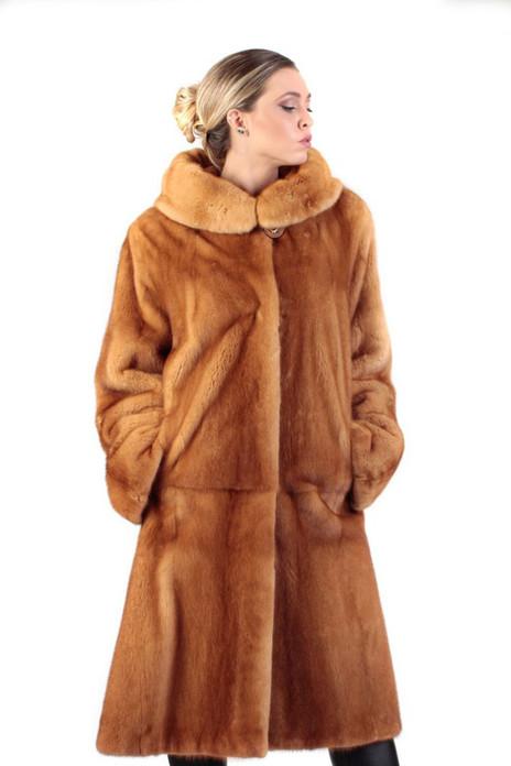whiskey saga mink fur coat skin to skin hooded