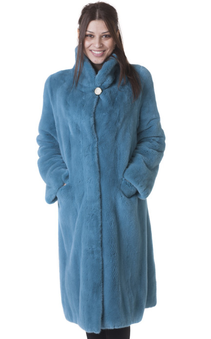 turqoise mink fur coat women's