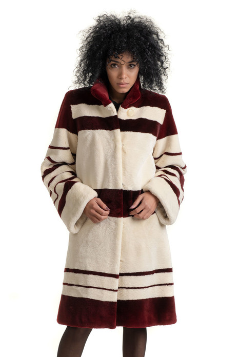 Striped Beaver  Coat
