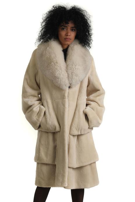 Pearl Sheared Beaver Fur Stroller with Fox Shawl Collar  Victoria