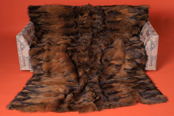 whiskey fox fur blanket halfskins