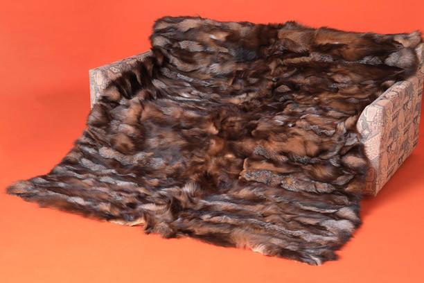 crystal sectional fox fur blanket made of halfskins