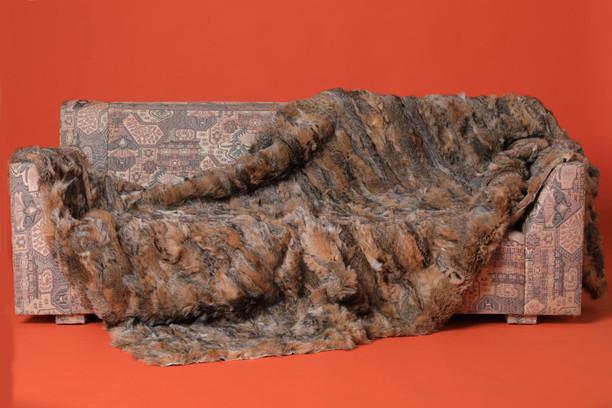 lynx fur blanket bedspread throw matte finish