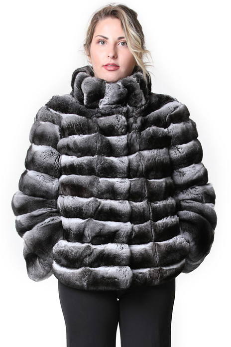 Chinchilla Fur Coat Bell Bottom Sleeves