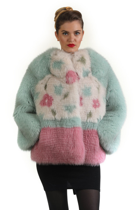 Multicolor Fox Fur Jacket Fully Let Out