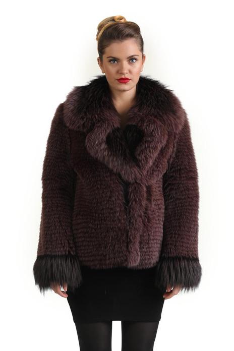 Purple Fox Fur Coat