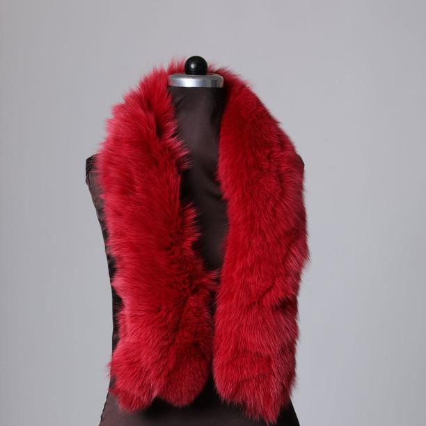 Red Fox Fur Trim  Dense