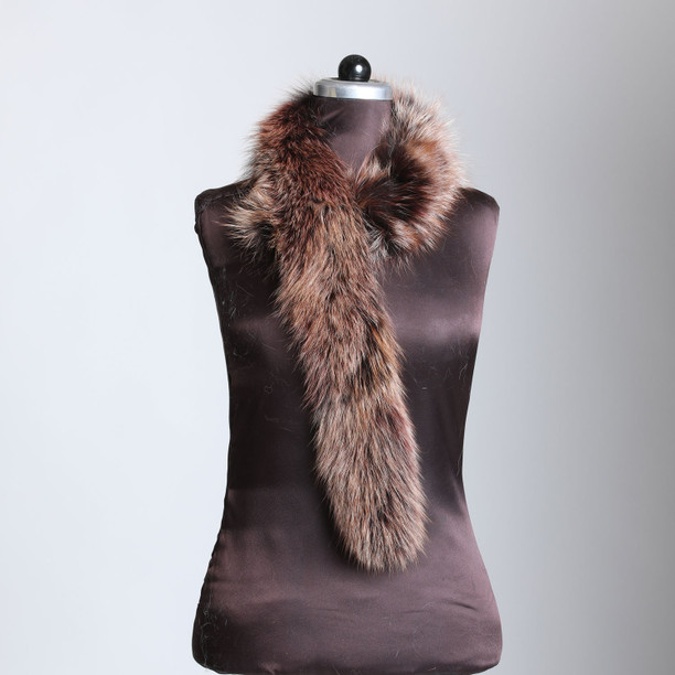 Brown Black Fox Trim