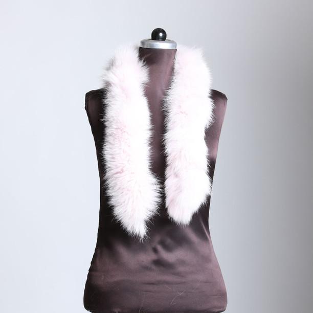 Light Pink Fox Fur Trim Dense