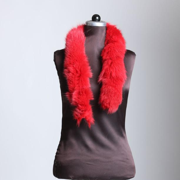 Santa Red Fox Fur Trim