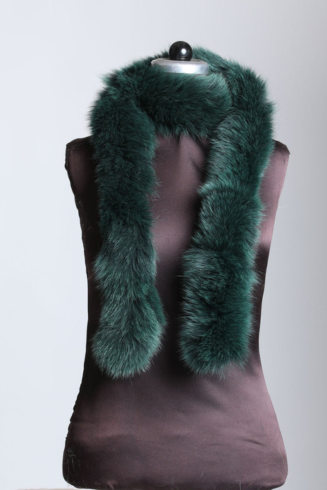 Forest Green Fox Fur Boas