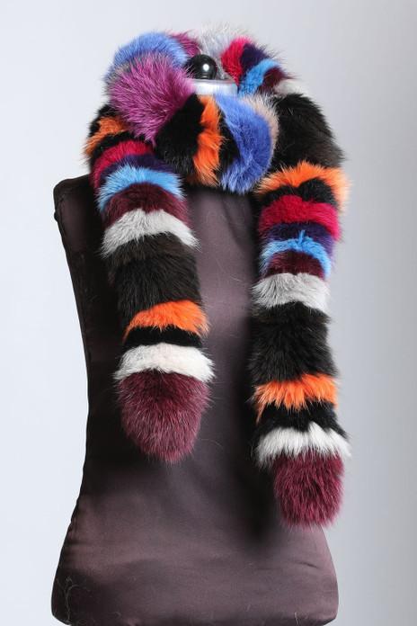 Multicolor Fox Fur Boas