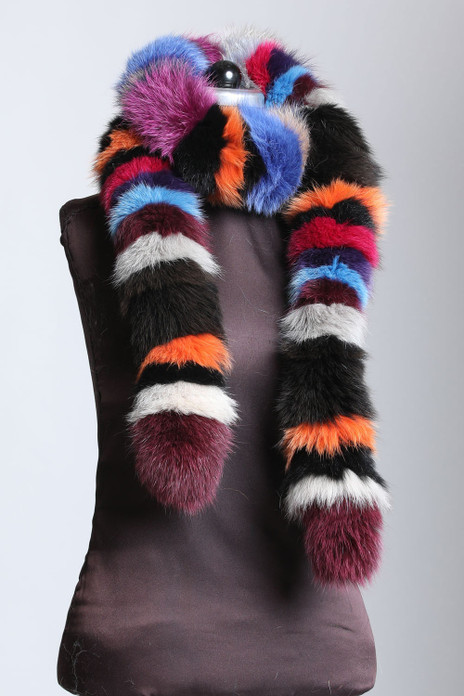 Multicolor Fox Fur Boas