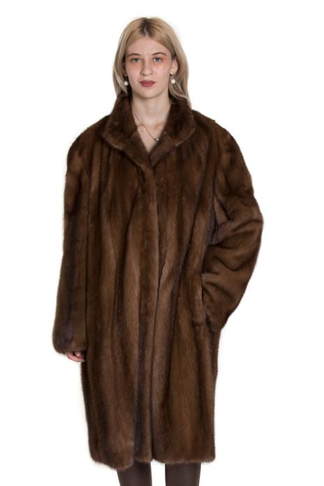 brown let out mink fur coat
