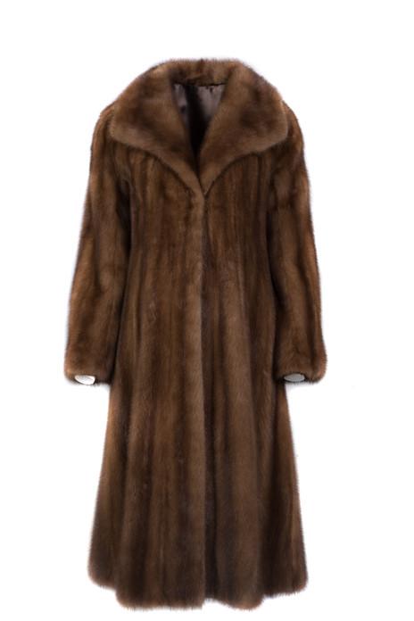 Demi Buff Mink Fur Coat Fully Let out