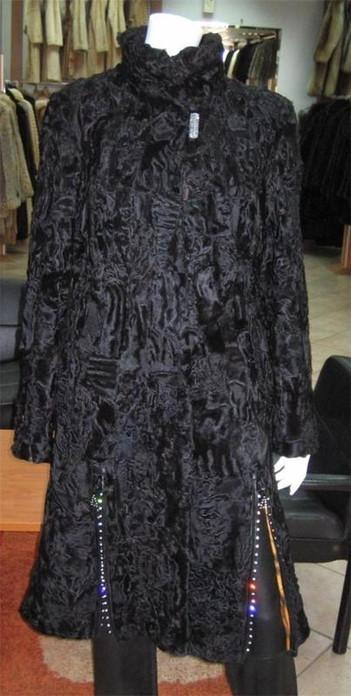 Black Persian Lamb Fur Coat
