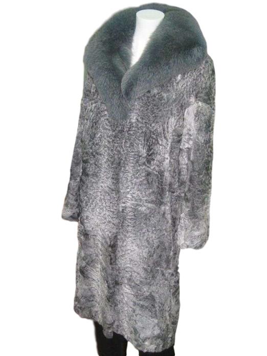 Gray Persian Lamb Fur Coat