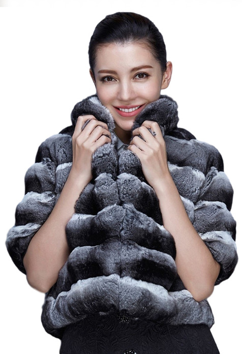 Chinchilla Fur Bolero Bell Bottom Sleeves