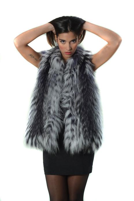 Gray Fox Fur Vest