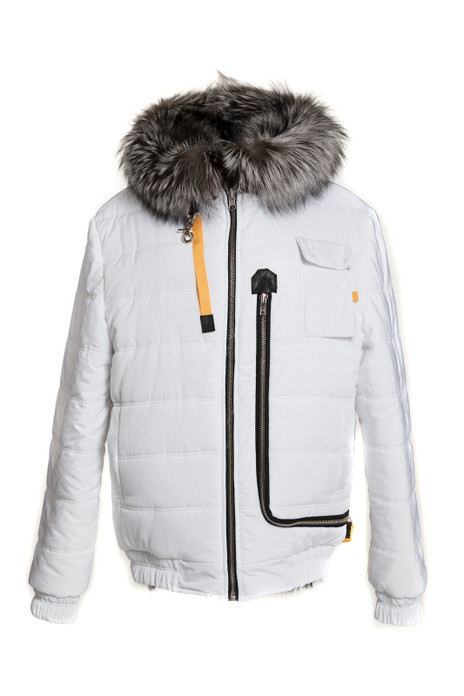 White Fur Lined Hooded Parka