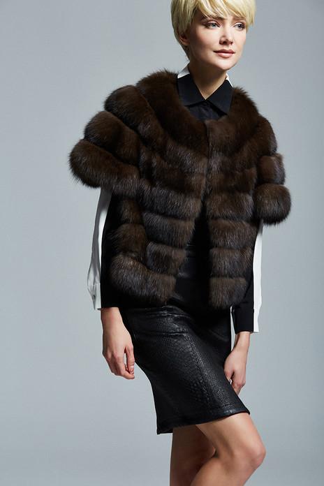 Short Sleeved Sable Fur Jacket