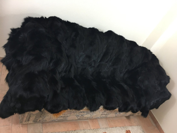 Black fox Paws fur blanket/throw/luxury blanket