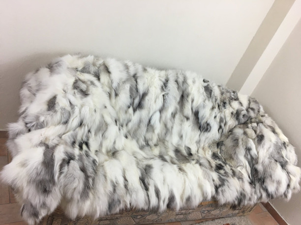 Platinum fox fur blanket/throw