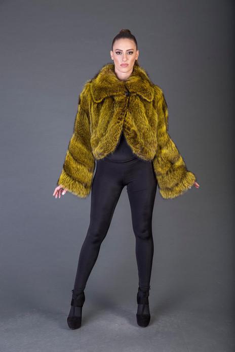 Golden Racoon Fur jacket