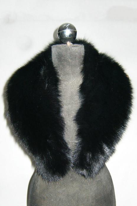 Black Fox Fur  shawl Collar  Women's