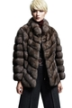 sable fur jacket silver tips