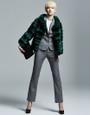 Green  business Chinchilla Fur Jacket