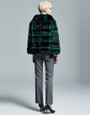Green  chic Chinchilla Fur Jacket