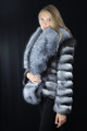 Chinchilla Fur Jacket Silver Fox Collar