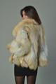 Golden island  Fox Fur Coat rear profile view