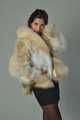 Golden island  Fox Fur Coat profile view