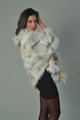 Golden  islamd Fox Fur Cape Hooded lateral view