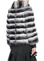 Chinchilla Fur Jacket Turtle Neck Collar