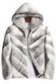 Mens Hooded Black Cross Mink Fur Coat