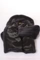 men's fur coat gray mink lining view