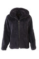 Men's Gray Mink Fur Bomber  jacket Hooded  with zipper closure front view