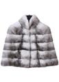 black cross mink fur cape