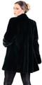 Black Mink Coat & Leather Belt