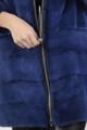 Electric Blue Mink Fur Coat Zipper