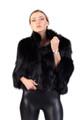 Short Black Fox Fur Jacket