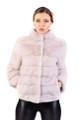 lavender saga mink fur short jacket