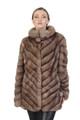 Diagonal Sable Fur Coat