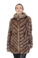 Diagonal Sable Fur Coat